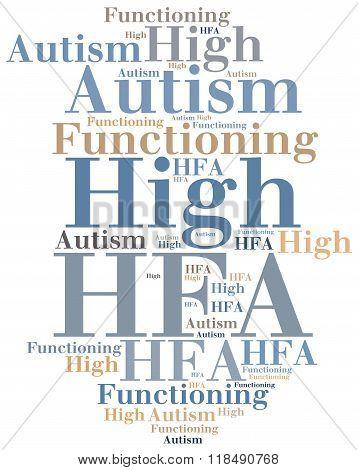 Hfa - High Functioning Autism. Disease Abbreviation Concept.