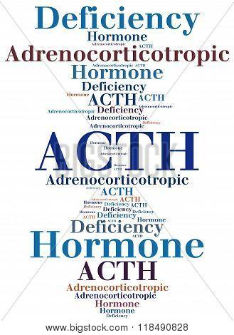 Acth - Adrenocorticotropic Hormone Deficiency. Disease Concept.