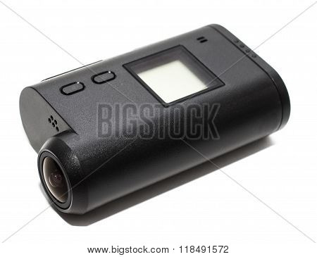 action camera, waterproof white background