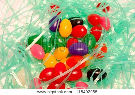 Jelly Beans and Easter Grass
