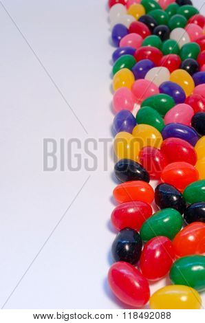 Vertical Jelly Beans Background