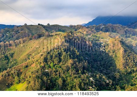 green mountains landscape, colombia