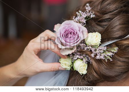 Wedding Hairstyle Of The Bride