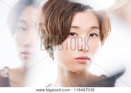 Artistic Japanese Woman Portrait