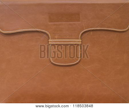 Closeup Brown Bag For Document Paper Background