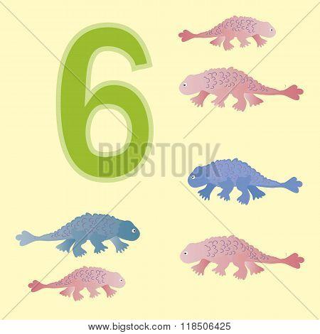 Number 6. Six Dinosaur (ankylosaur) .