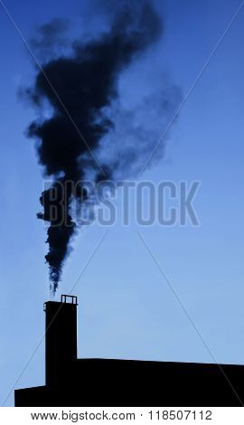 Industry Chimney Silhouette