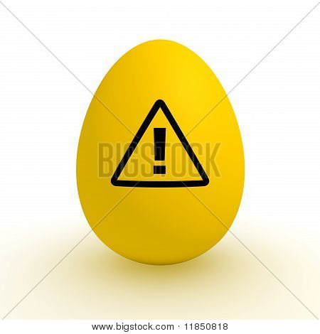 Yellow Egg - Polluted Food - Attention Sign