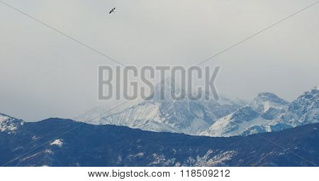 View Of Italian Alps In Aosta Valley, Italy