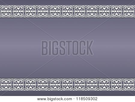 Vintage Background With Ornaments On The Edges