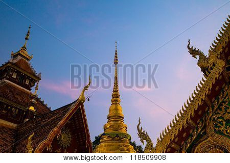 Lampang,thailand - Feb 4 ,2016 : Wat Pong Sanook This Temple Thailand Get Award Of Merit By Unesco I