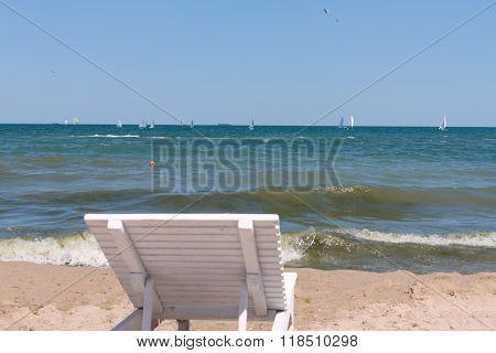 Sunbed On The Beach