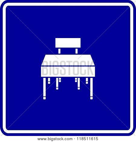 student desk sign