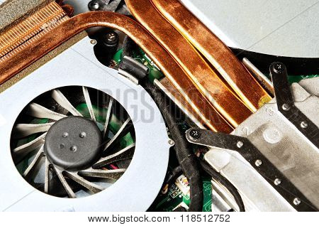 Dust on laptop fan