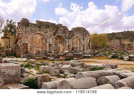 Roman Site Perge in Antalia.