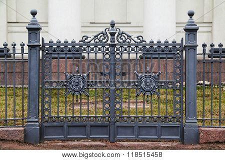 Wrought iron ornamental gates