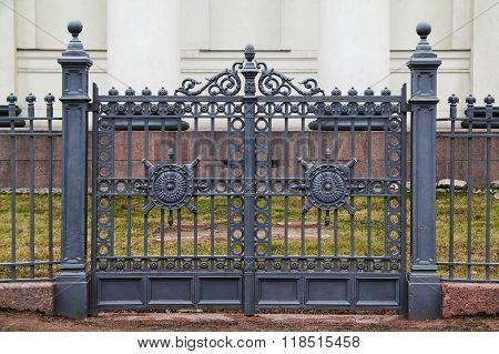 Wrought iron ornamental gates