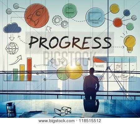 Progress Development Growth Innovation Advancement Concept