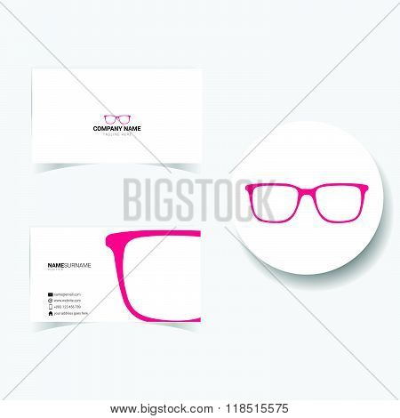 Business Card With Sunglasses Illustration