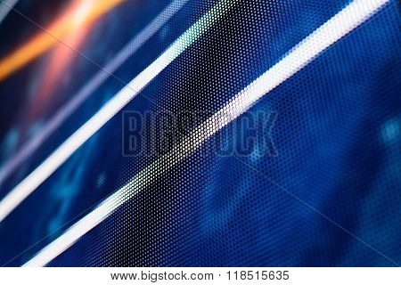 Blue Colored Led Smd Screen With White Lines