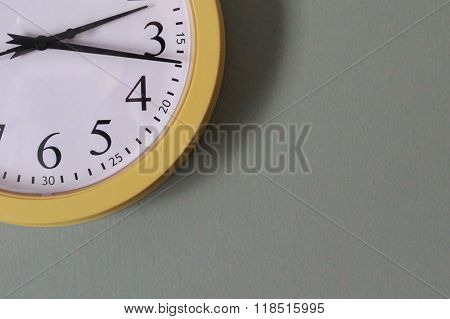 Partial View of Yellow and White clock