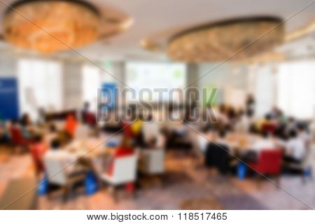 Blurred Conference Room.