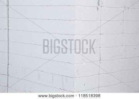 Stack Of White Lightweight Concrete Block