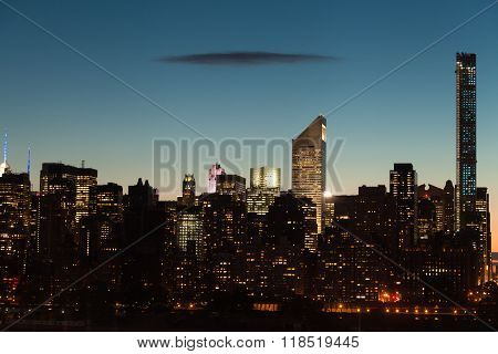 New York City Midtown Manhattan Cityscape At Twilight