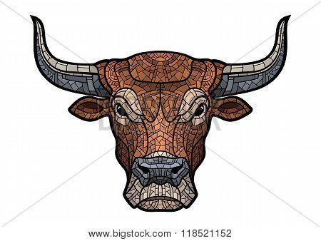 Bull head isolated illustration