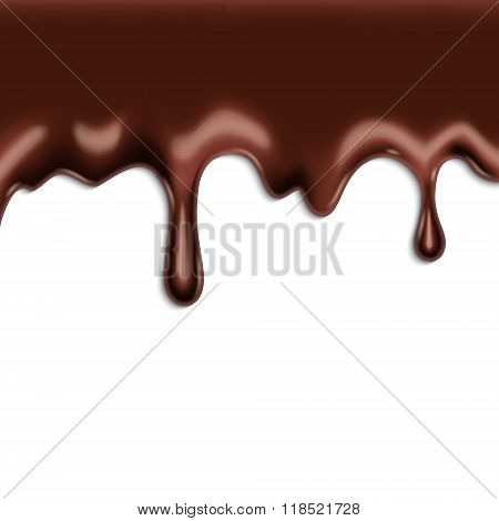 Chocolate on white