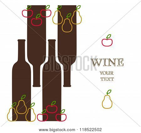 Wine Bottles With Apples And Pears, Advert Banner