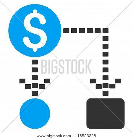 Cashflow Scheme Vector Icon