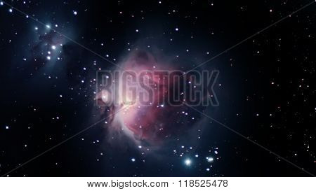 Orion Nebula Night sky The Orion Nebula is a diffuse nebula situated in the Milky Way south of Orion