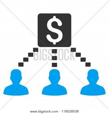 Money Recipients Glyph Icon