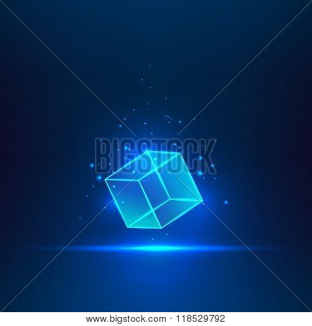 Vector glass cube