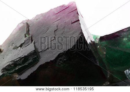 the very purple fluorite on white background
