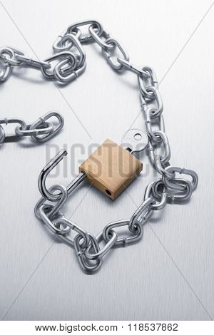 Closeup On Silver Chain