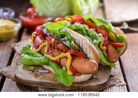 Fresh Made Hot Dog Vegetables