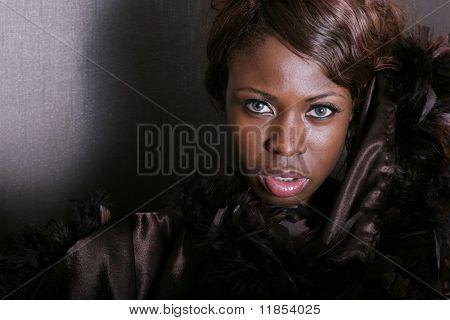 Sexy black woman portrait