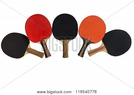 table tennis rackets isolated on white background