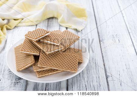 Crispy Waffles With Vanilla Cream
