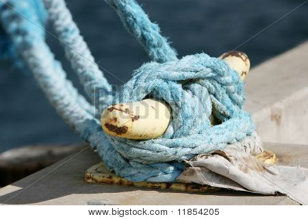 Safety rope of a boat