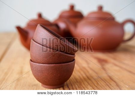 Stackable Of Chineese Cups