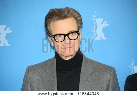 Colin Firth attends the 'Genius' photo call during the 66th Berlinale Film Festival Berlin at Hyatt Hotel on February 16, 2016 in Berlin, Germany.