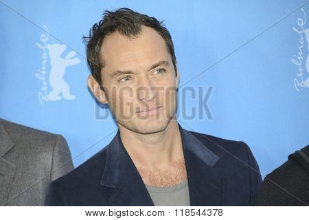 Jude Law attends the 'Genius' photo call during the 66th Berlinale Film Festival Berlin at Hyatt Hotel on February 16, 2016 in Berlin, Germany.