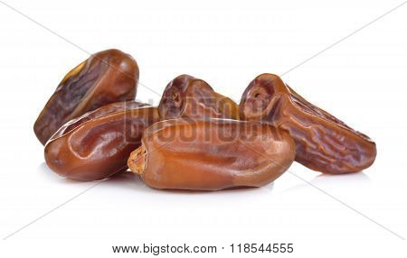 Pile Of Date Palm Fruit On White Background