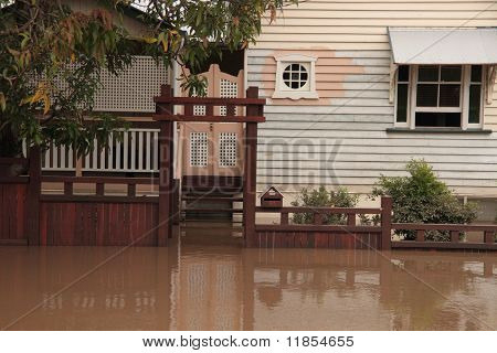 Brisbane, Australia - Jan 13 : Flood  Brisbane Milton Area Queensland Declared Natural Disater Janua