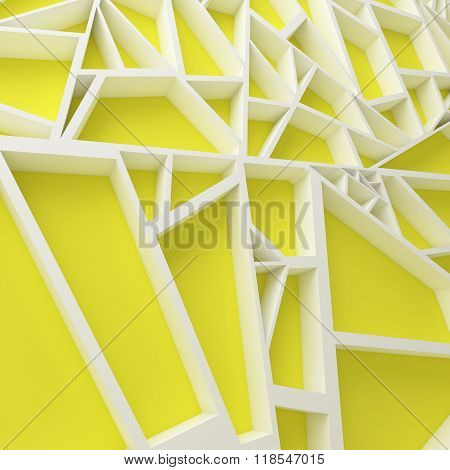 Color extrude abstract 3d background