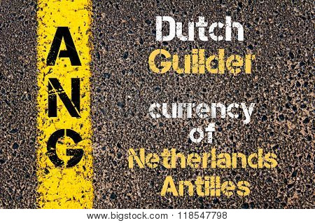 Acronym Ang - Dutch Guilder, Currency Of Netherlands Antilles