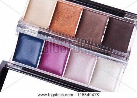 close up of cream eyeshadows